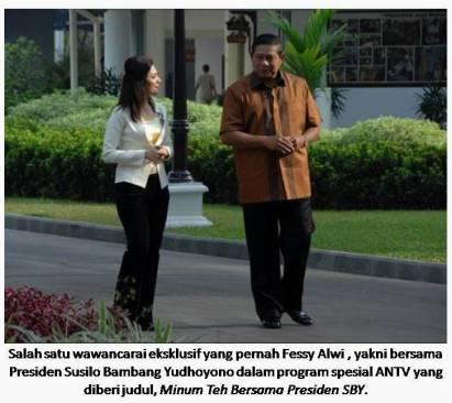 Fessy Alwi bersama Presiden SBY