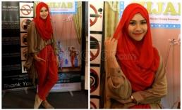 Paduan warna Hijab Zaskia