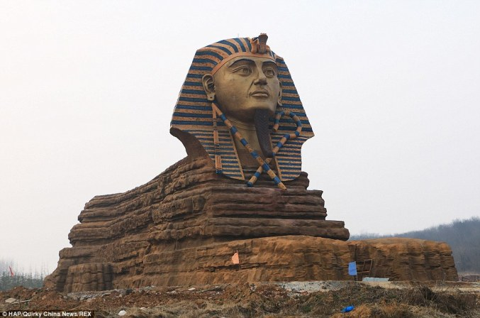 A replica of the Great Sphinx