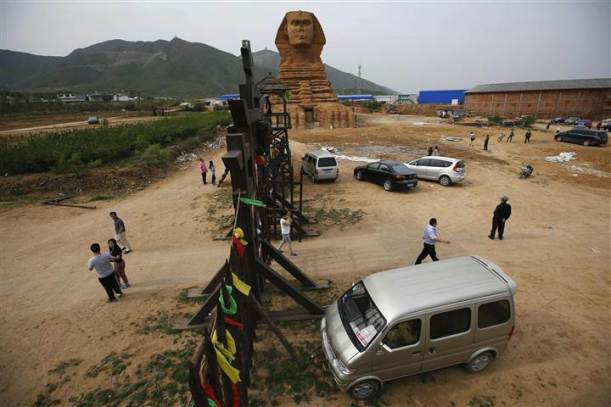 replica of the Sphinx  Hebei
