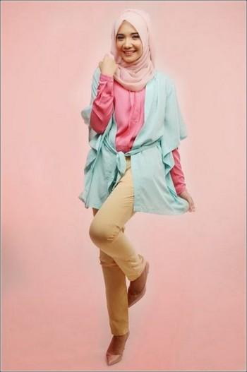 Inspirasi Paduan Warna Hijab Ala Zaskia Adya Mecca Athisa88