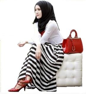 Hijab Hitam Putih
