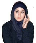 paduan hijab hitam